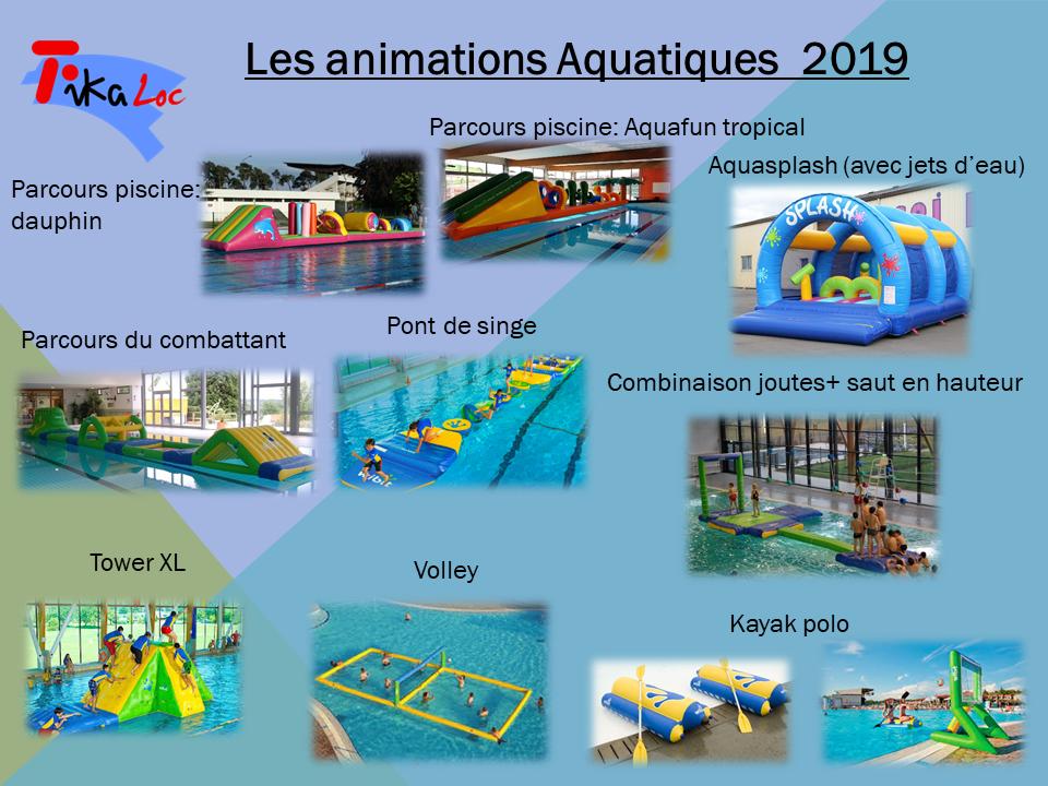 Animations aquatiques 2019