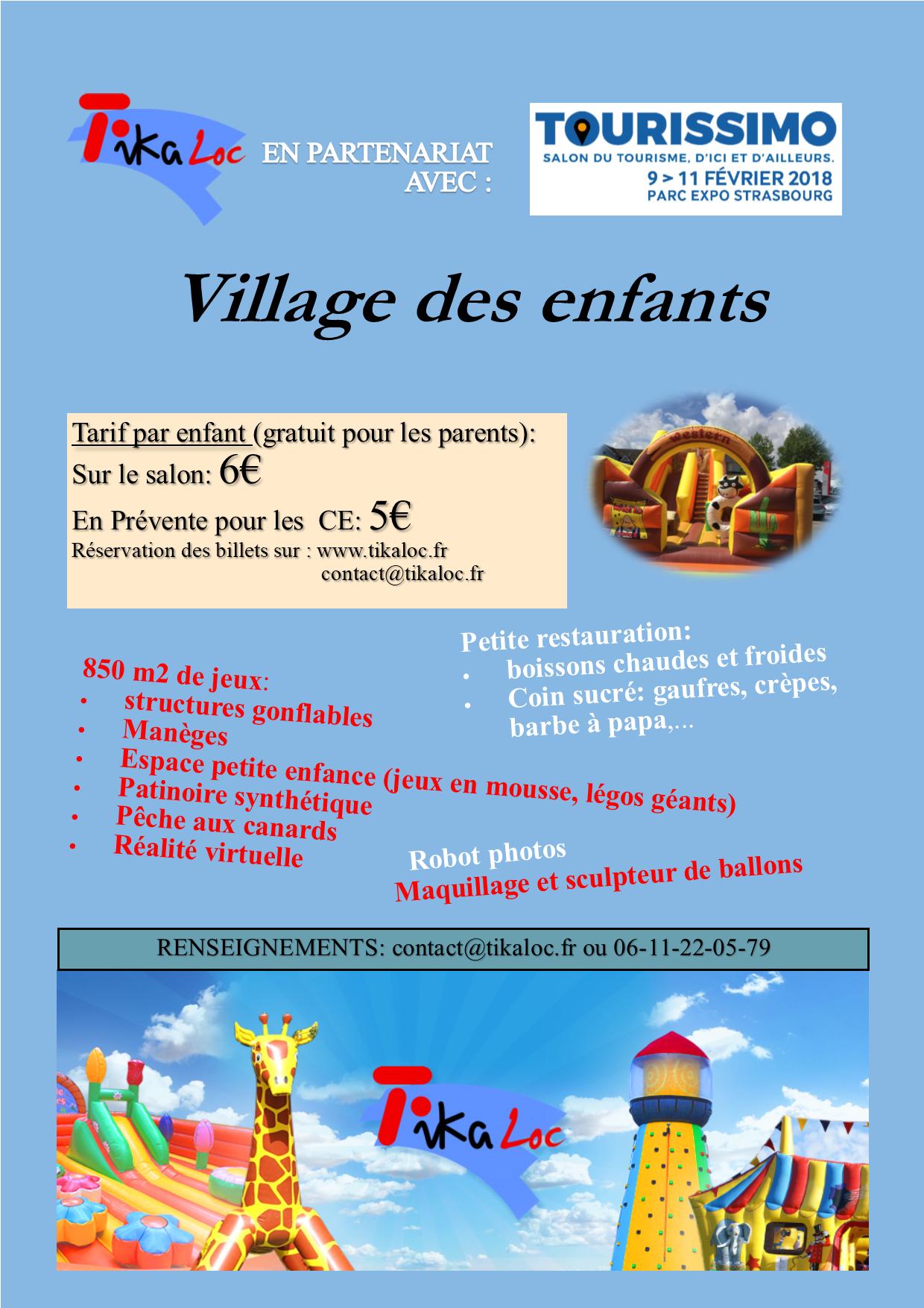 Village des enfants à Tourissimo 2018
