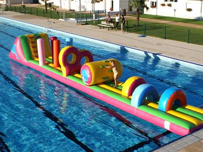 Parcours piscine jeux aquatiques tikaloc location de for Structure piscine