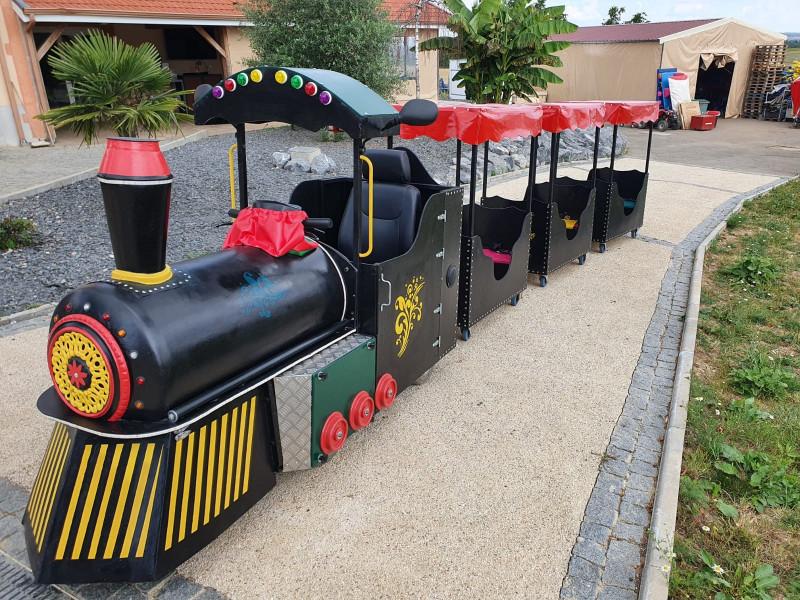 Train électrique clown 1
