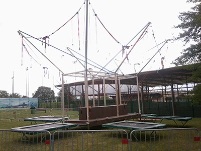 Trampoline élastique 6 pistes