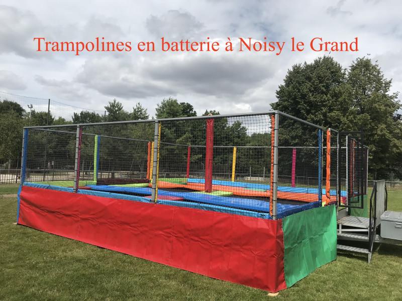 Trampolines en batteries 6 pistes